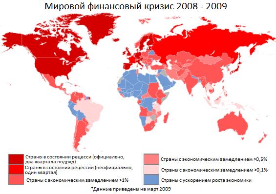 последствия мирового экономического кризиса 2008