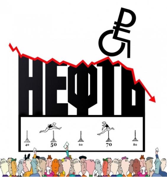 нефть падает рубль слабеет