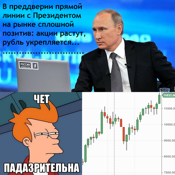 прямая линия с президентом и биржа